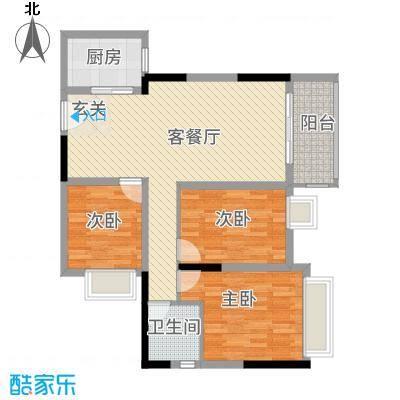 珠江东岸珠江四季悦城户型3室