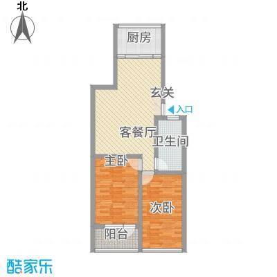 玉珠花园85.10㎡户型2室2厅1卫