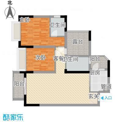 前卫江畔121.00㎡户型3室