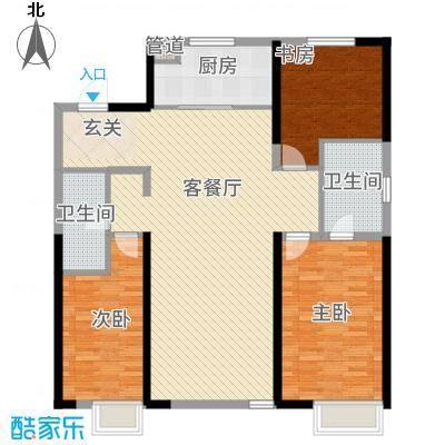抚顺万科金域国际14.00㎡二期户型3室2厅2卫