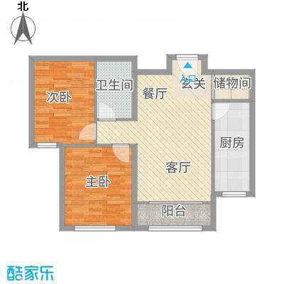 天成・明月洲88.00㎡L户型2室2厅1卫
