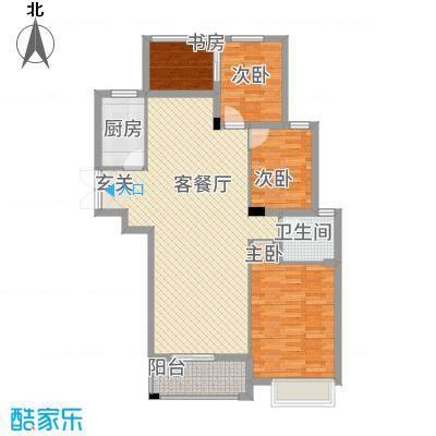 文峰鑫苑18.00㎡A3户型3室2厅1卫1厨