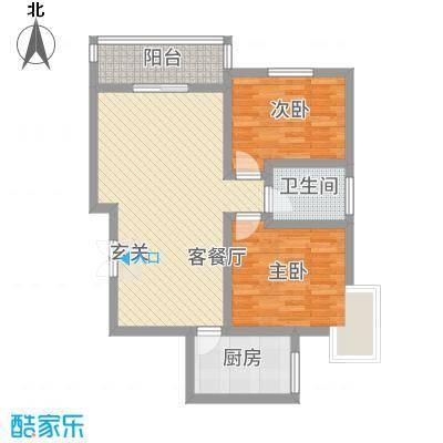 东城国际18.20㎡东尚国际C1户型2室2厅1卫1厨