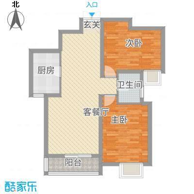 东城国际1.62㎡东尚国际E户型3室2厅2卫1厨