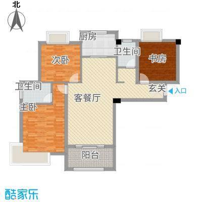 东方今典中央城12.42㎡二期C01户型3室2厅2卫1厨