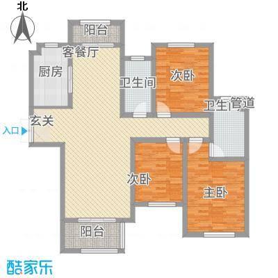 建业・森林半岛144.00㎡高层A户型3室2厅2卫1厨