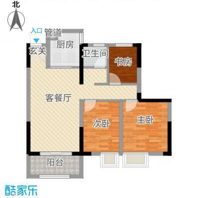 金鹏・爱丽舍宫88.00㎡高层户型3室2厅1卫1厨