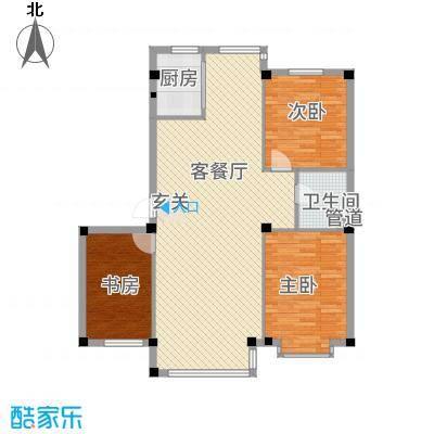 龙湾骏景112.00㎡C1户型3室2厅1卫