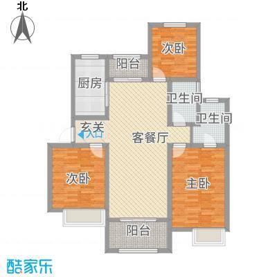 天明城131.76㎡C1户型3室2厅2卫1厨