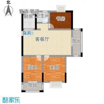 紫金名苑111.81㎡6#、9#户型3室2厅1卫1厨