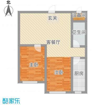 赤峰香格里拉国际城85.72㎡CG户型1室2厅1卫1厨