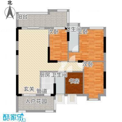 大唐盛世三期125.75㎡3幢03单元户型3室2厅2卫1厨