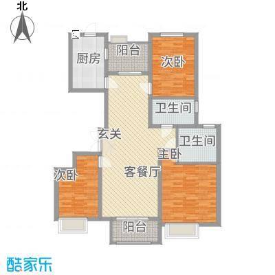 安阳万达广场138.00㎡C2户型3室2厅2卫