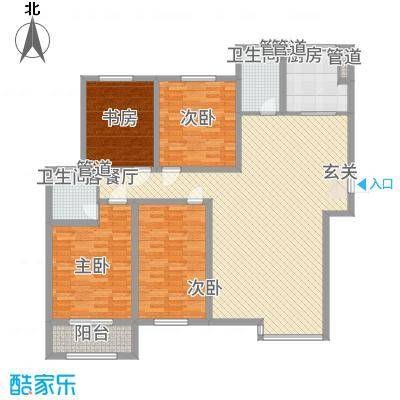 翠湖庄园185.00㎡D户型4室2厅2卫1厨