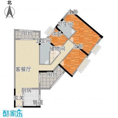 枫林水岸豪庭161.34㎡2#A单元0户型4室2厅3卫1厨
