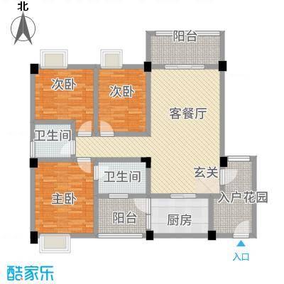 荣华山庄二期温情港湾116.70㎡C户型2室2厅1卫1厨