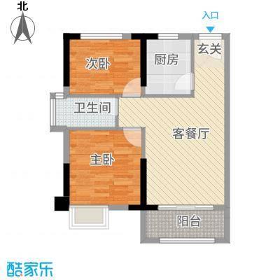 锦绣・东城78.00㎡1、2号栋户型1厅1卫1厨