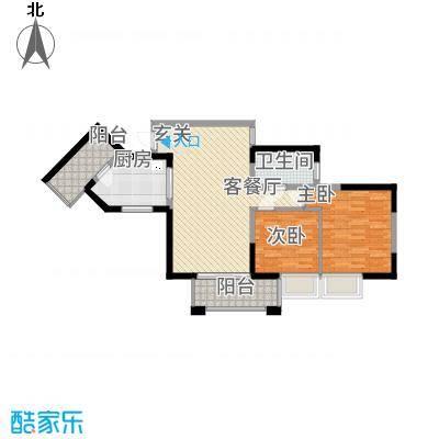 宇宏・健康花城88.44㎡04户型2室2厅1卫