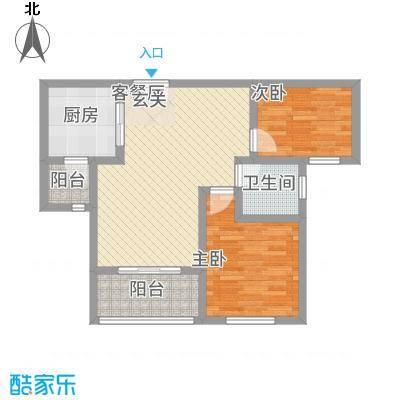 建业桂园85.00㎡户型