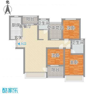 宜居・燕苑137.80㎡J户型4室2厅2卫1厨