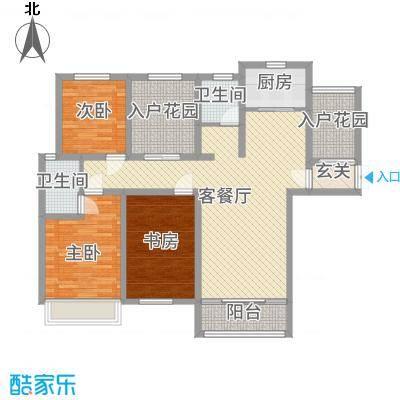 宜居・燕苑141.54㎡H户型4室2厅2卫1厨