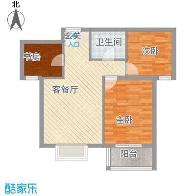 金垣置地户型2室1厅1卫1厨