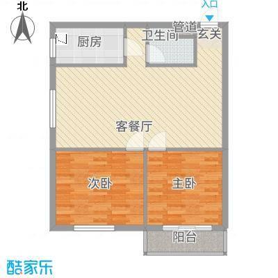 皇家壹里X2户型2室2厅1卫1厨