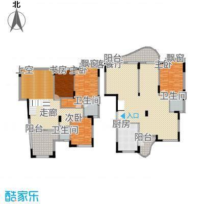 鸿越瑞�花园225.18㎡A4栋复式户型4室3厅3卫1厨