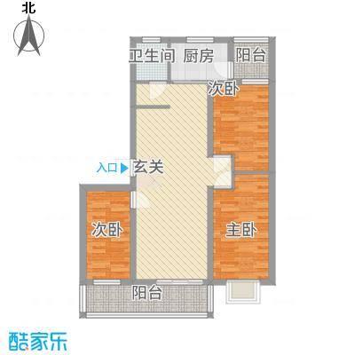 凤凰花园14.00㎡日照金港・美丽园户型3室2厅1卫1厨