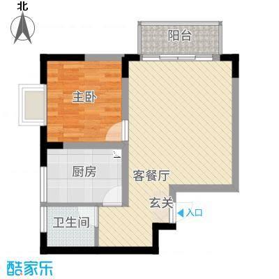 翠岭居户型1室