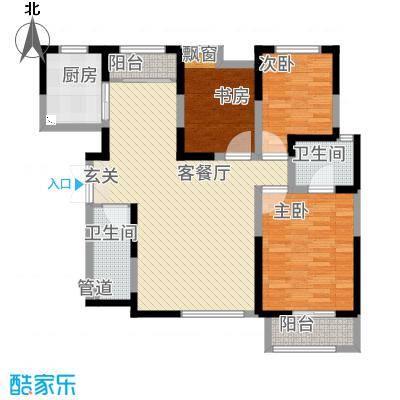白桦林居126.00㎡户型3室