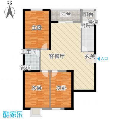 太原奥林匹克花园10#楼三户型3室2厅1卫1厨