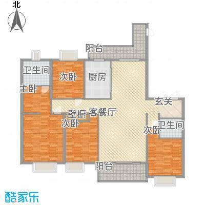 紫薇永和坊168.00㎡户型4室