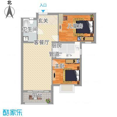 北京御园B25两居户型-副本