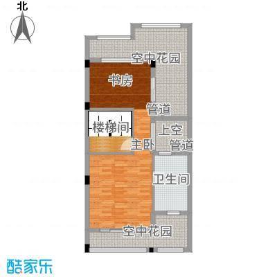 南峰华桂园253.00㎡四拼D2三层户型2室2厅2卫1厨