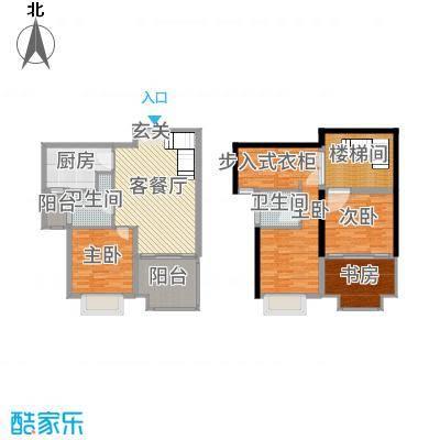 永利中央公馆140.98㎡2号楼F户型3室3厅2卫1厨