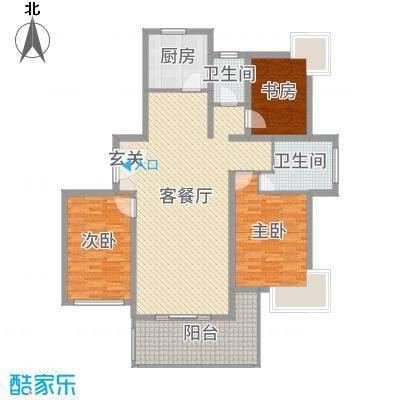 永利中央公馆135.81㎡4号楼C1户型3室3厅2卫1厨