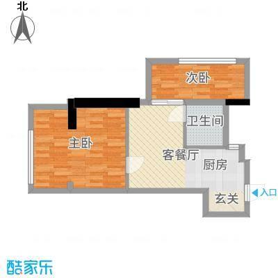 新兴新庆坊64.00㎡公寓A户型2室2厅1卫1厨