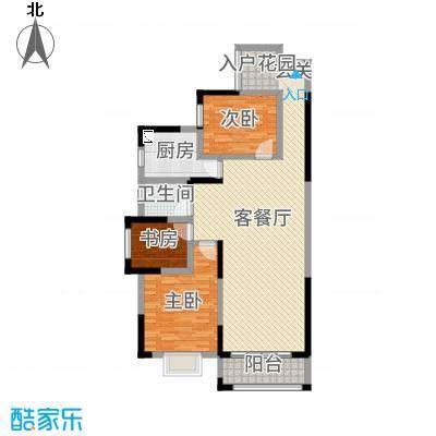 万和・新希望111.25㎡1#楼-D3(D4)户型3室3厅1卫1厨