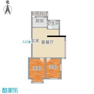 河东馨苑90.81㎡户型2室2厅1卫
