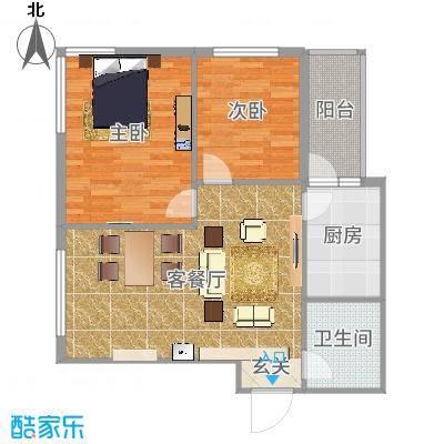 运华广场(江北)运华广场(江北)户型图使用面积63.18㎡2室1厅1卫1厨户型2室1厅1卫1厨-副本
