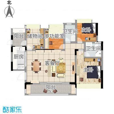 巴中_巴中兴文逸境新城王女士雅居-设计师:张杨峰