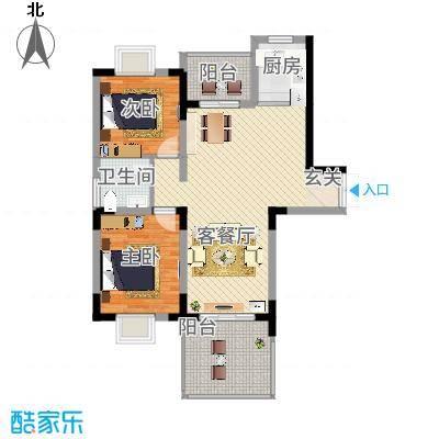 福鼎庄园户型2室2厅1卫1厨-副本