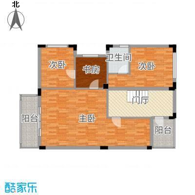 佛冈奥园温泉别墅282.00㎡双拼别墅B-3二层户型2室2厅2卫