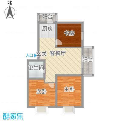 绿海华庭106.00㎡多层E户型3室3厅1卫1厨