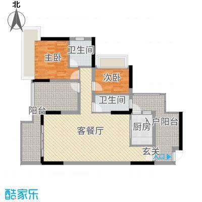丰泰观山碧水・凌峰104.00㎡2栋/3栋/6栋01户型2室2厅2卫1厨