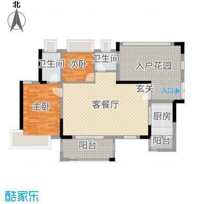 丰泰观山碧水・凌峰106.00㎡2栋02、3栋/6栋2单元02户型2室2厅2卫1厨