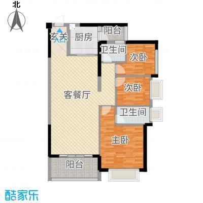 昶盛・昶园122.10㎡6栋2单元01户型3室3厅2卫1厨