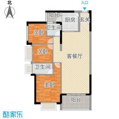 昶盛・昶园122.29㎡4栋01-02&5栋1单元02户型3室3厅2卫1厨