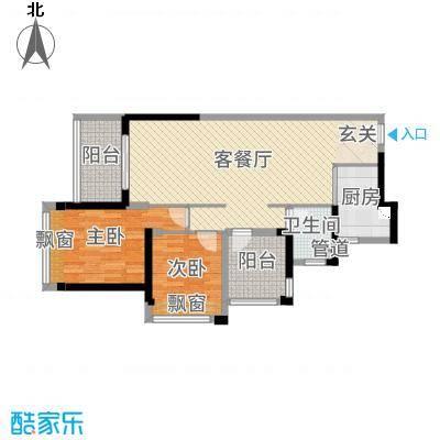 碧桂园翡翠山92.00㎡01、02户型3室3厅1卫1厨